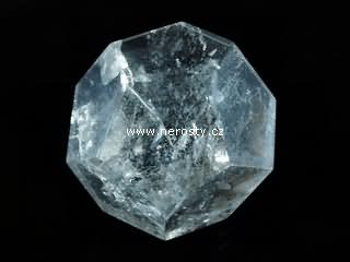 rock crystal, dodecahedron